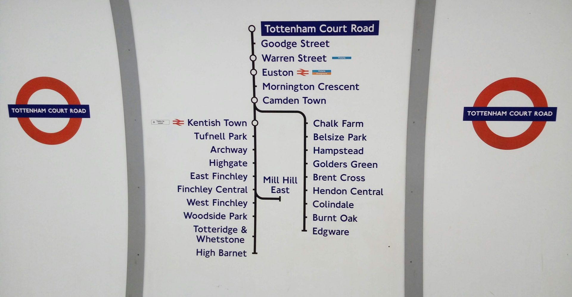 Tottenham Court Road Tube Station sign
